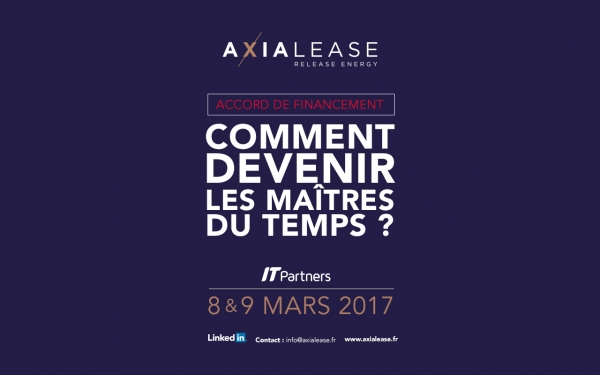 Axialease vous donne rendez-vous à IT Partners 2017