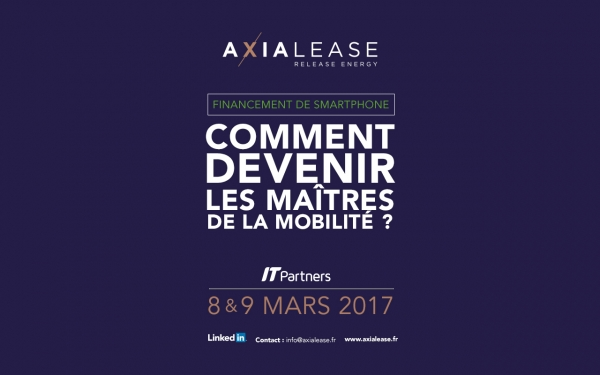 Axialease présent à IT Partners 2017